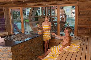 Saunagang im Kurhotel in Bayern